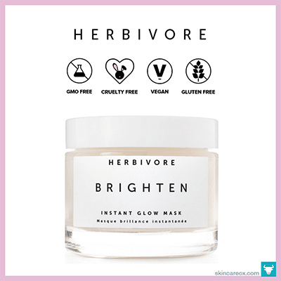 HERBIVORE: BRIGHTEN PINEAPPLE + GEMSTONE MASK