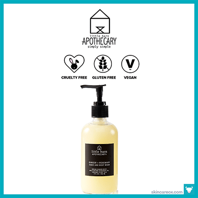 LITTLE BARN APOTHECARY: GINGER + ROSEMARY BODY WASH