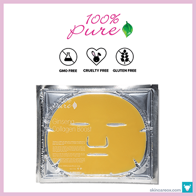 100% PURE: GINSENG COLLAGEN BOOST SHEET MASK $7 (1 sheet)