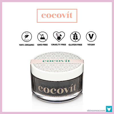 COCOVIT: COCONUT CHARCOAL FACE MASK $38 (3.3 oz)