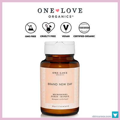 ONE LOVE ORGANICS: BRAND NEW DAY SCRUB + MASQUE $39 (1.7 OZ)
