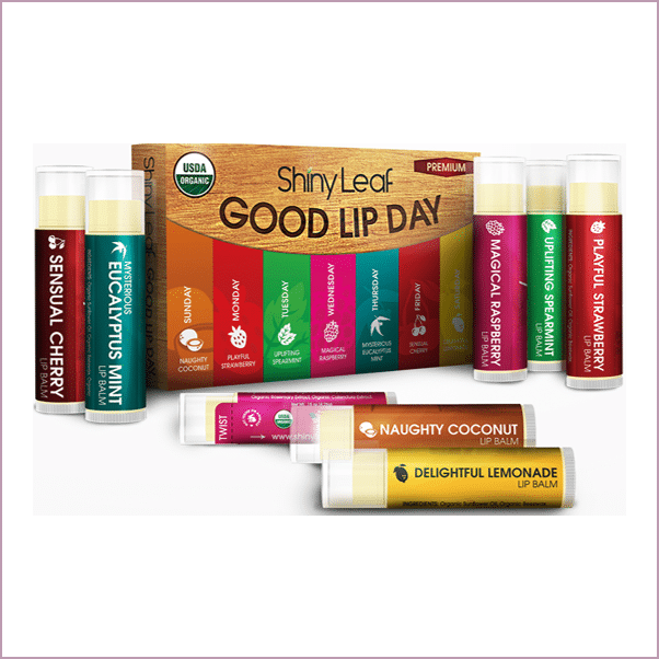 SHINY LEAF: GOOD DAY FLAVORED LIP BALMS ($17)