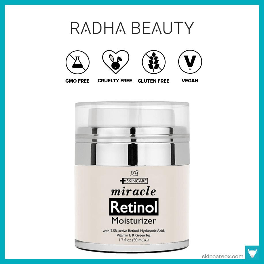 Retinol amounts in moisturizers - Radha Beauty Miracle Retinol Moisturizer Cream 19
