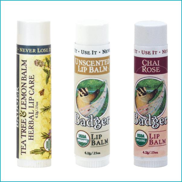 Badger Balm: Certified Organic Lip Balms ($varies)
