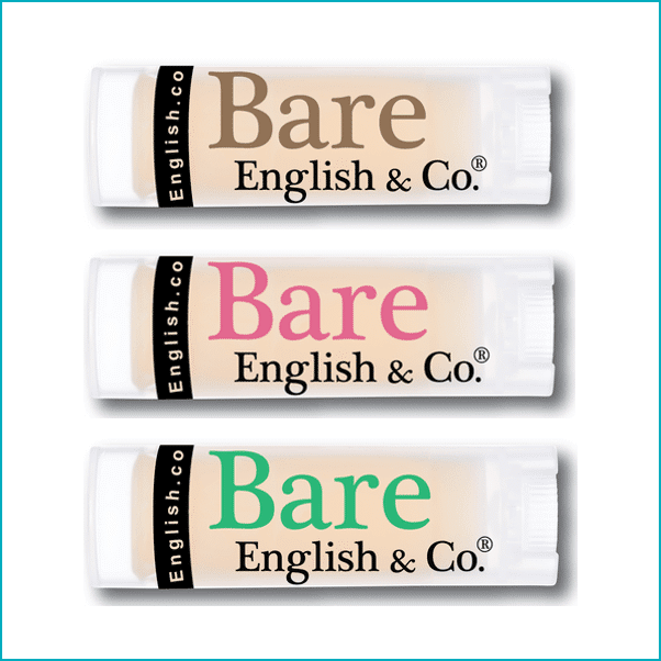 BARE ENGLISH: FLAVORED VEGAN LIP BALMS ($4)
