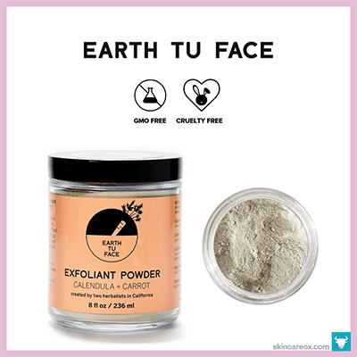 EARTH TU FACE: EXFOLIANT POWDER MASK $72 (8 oz)