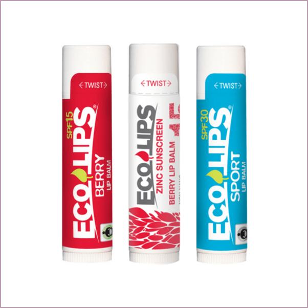 Eco Lips: SPF 15-30 Organic Lip Balms ($2-$3)