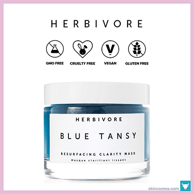 HERBIVORE: BLUE TANSY RESURFACING MASK $48 (2.3 oz)