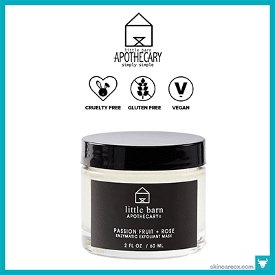 LITTLE BARN APOTHECARY: PASSION FRUIT + ROSE EXFOLIANT MASK $50 (2 oz)