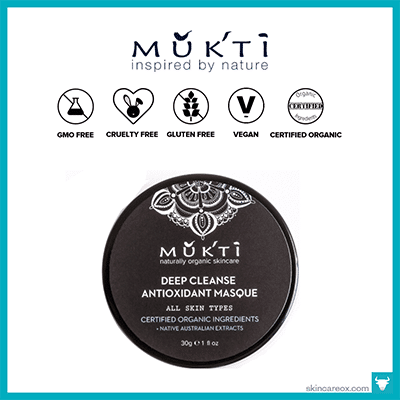 MUKTI: DEEP CLEANSING ANTIOXIDANT MASQUE $22 (1 oz)