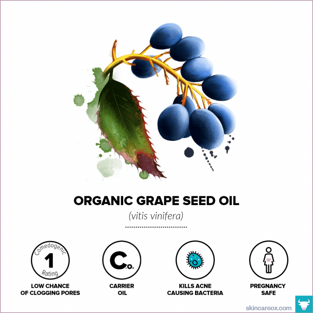 Organic Grapeseed Oil for Skin Care - Skin Care Ox
