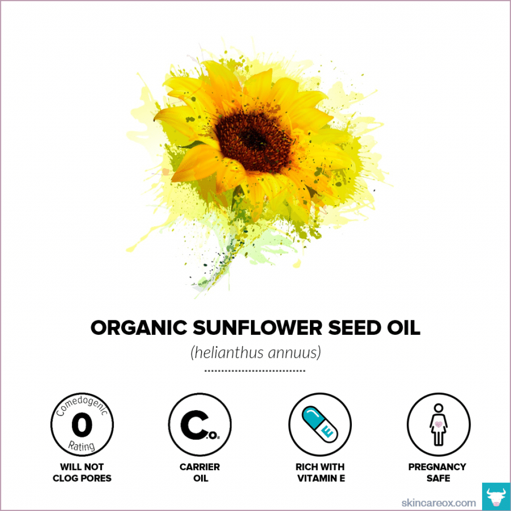 Organic Sunflower Oil for Skin Care - Skin Care Ox