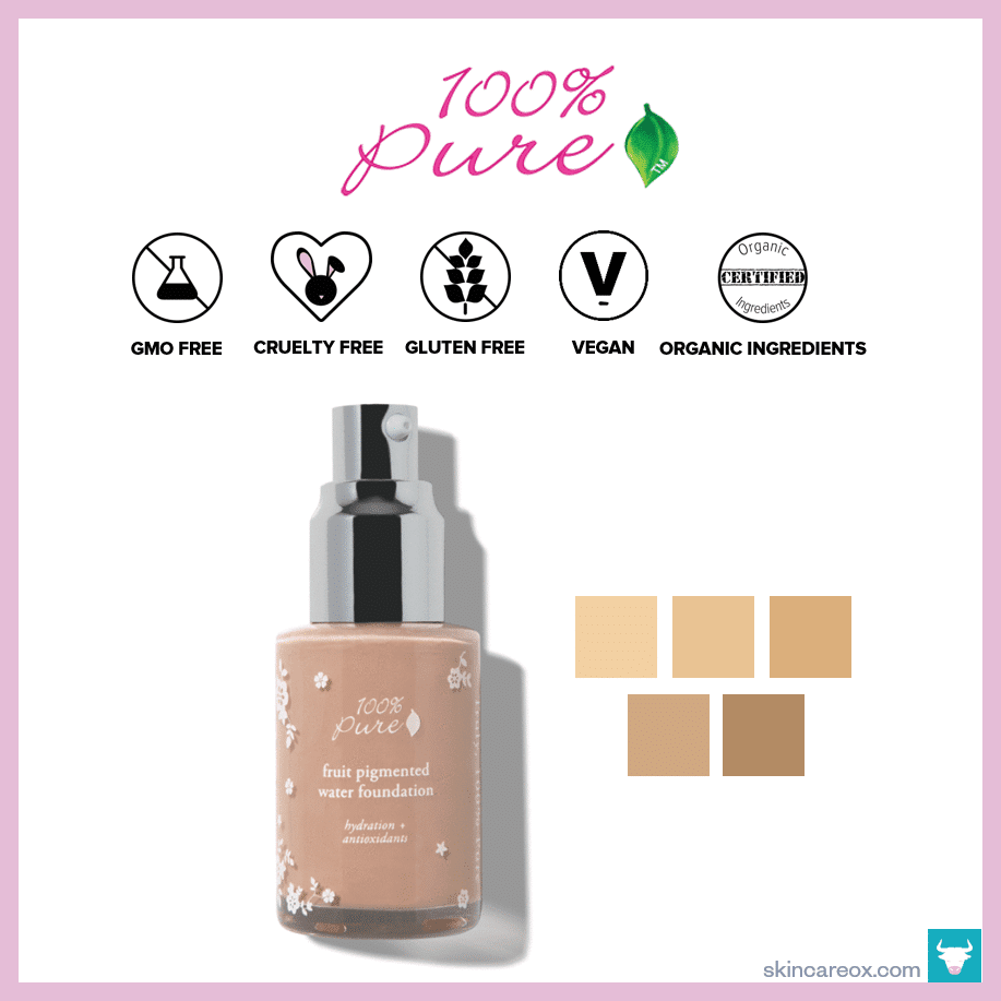 100% Pure – Fruit Pigmented Organic Water Foundation ($41)